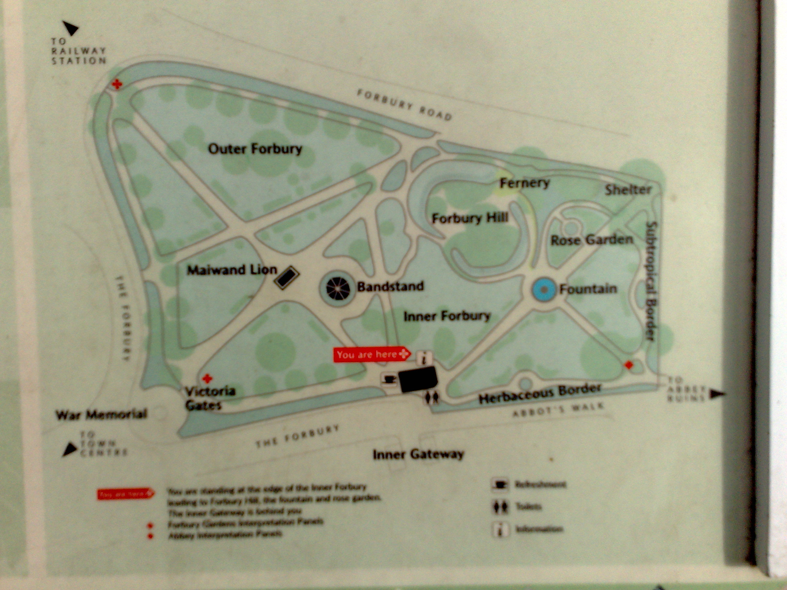 Map of Forbury Gardens
