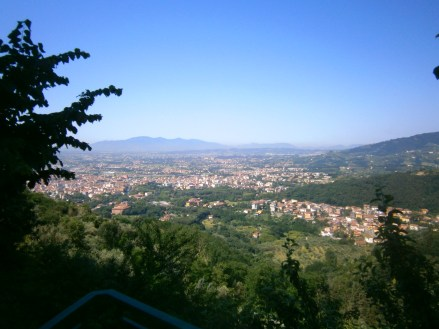 View from Montecatini Alto (Medieval hill-top town) overlooking Montecatini Terme and beyond!