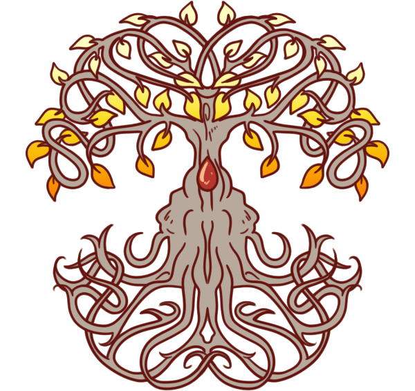 Yggdrasil, the fabled world tree, and a central symbol of the connectedness of the world with magic. Mystics and Misfits Graphics