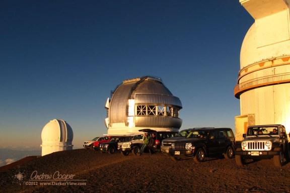 Summit Visitors await Sunset
