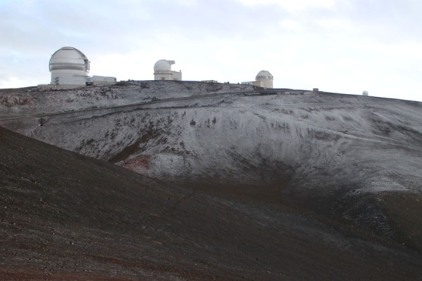 Snow on Mauna Kea