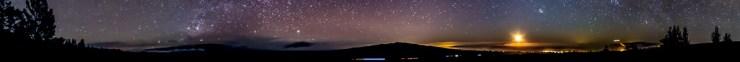 Horizon panorama from Ka'ohe, on the side of Mauna Kea
