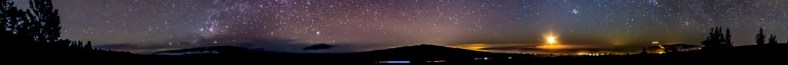 Horizon panorama from Ka'ohe, on the side of Mauna Kea