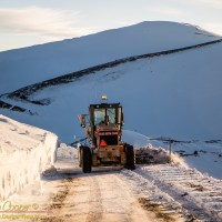 The MKSS snowplow crews remove snow from the roads atop Mauna Kea