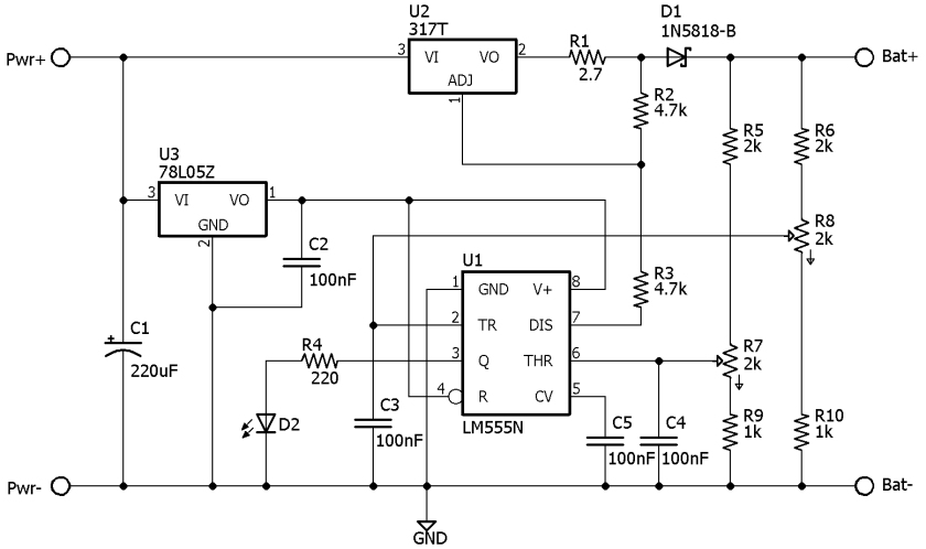 Circuit Diagram Of 6v Battery Charger