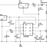 the schematic for the 6v lead-acid battery charger