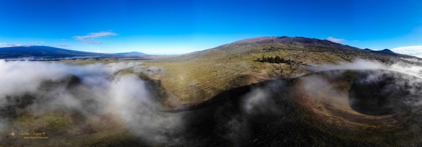 Flying the drone along the Mauna Kea access road just after sunrise, click on the image for full size