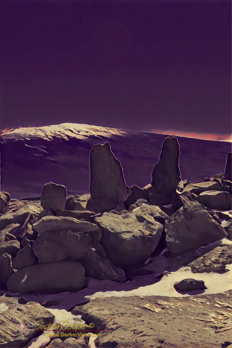 An ancient ahu atop Mauna Kea
