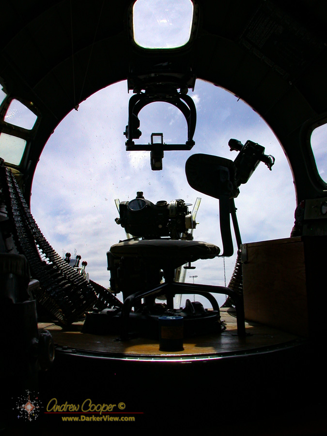 Bombardier position in B-17 Nine-O-Nine