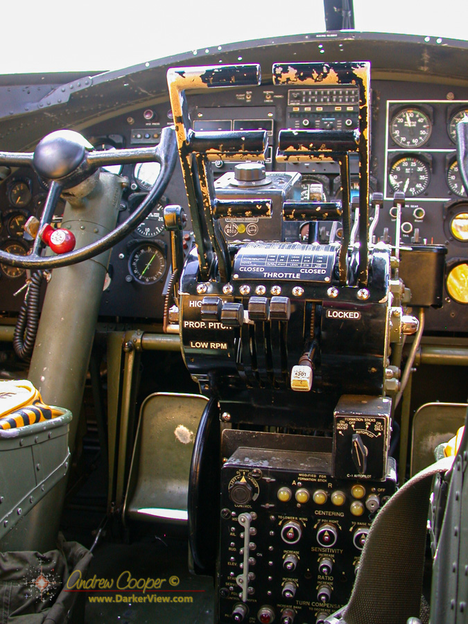 The cockpit of B-17 Nine-O-Nine