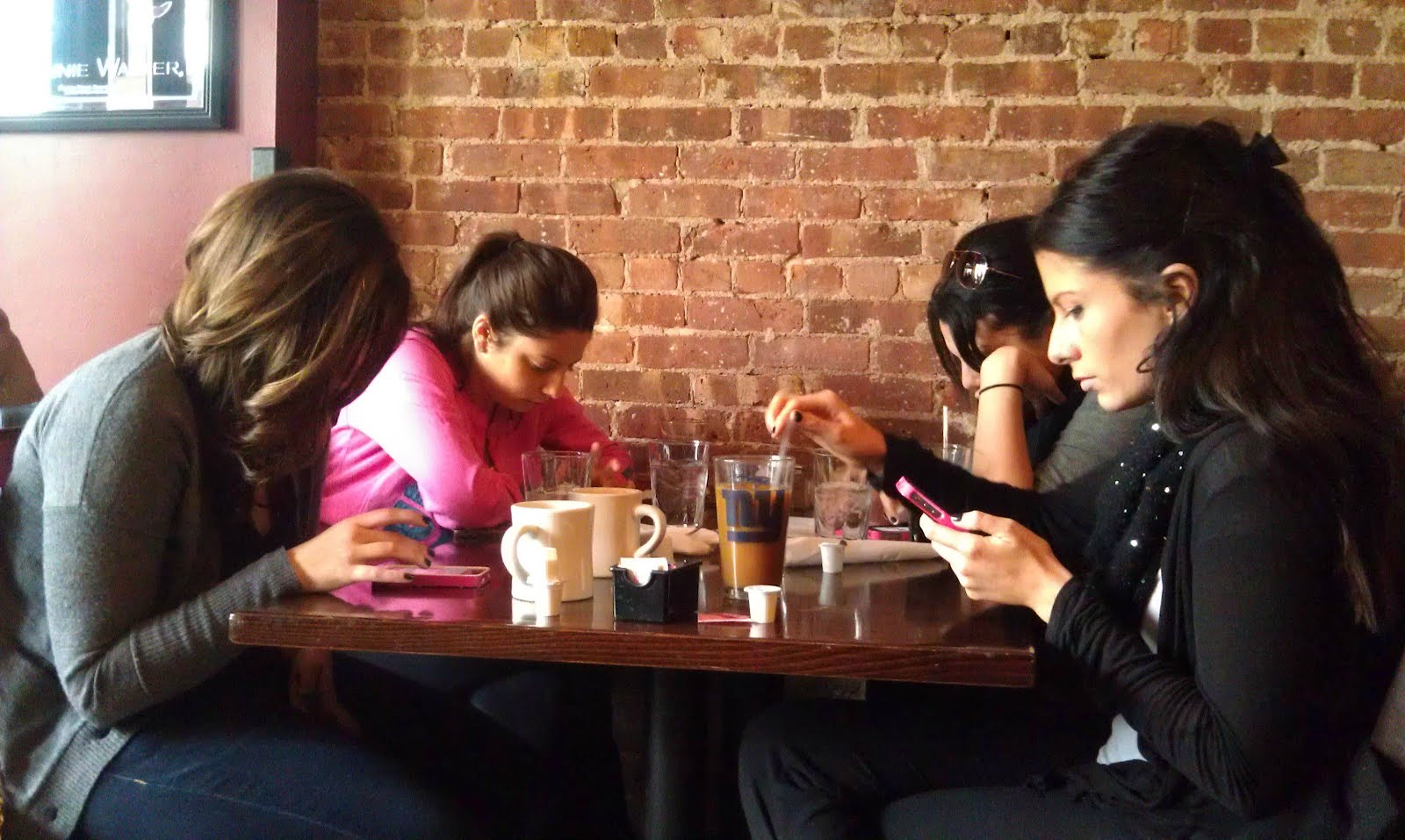 Women on phones