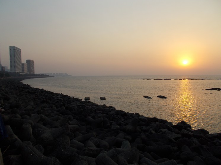 Sunset at Marine Drive, looking south-west