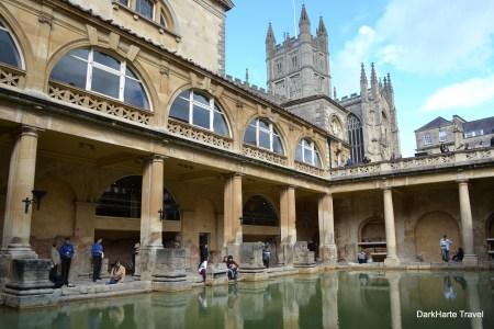 Bath Abbey from Roman Baths
