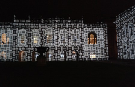 Senate House Cambridge light show