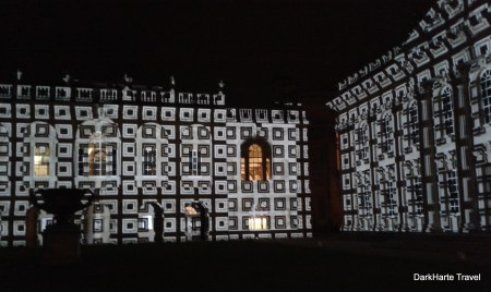 Senate House Cambridge light show