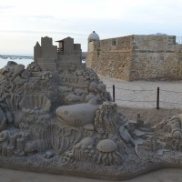 Sand sculpture in Cádiz