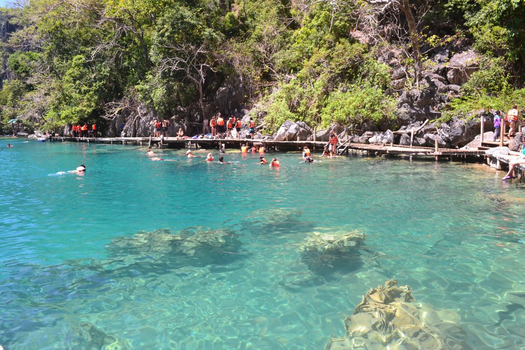 Swimming in Kayangan Lake