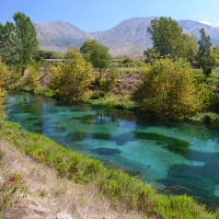 The Blue Eye spring in Albania