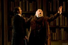 Alexander as Méphistophélès and Guy Bélanger as old Faust on the stage