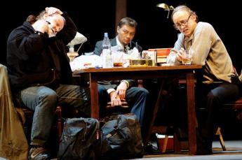 Burkhard Fritz, Rene Pape and Alexander as Pimen :)