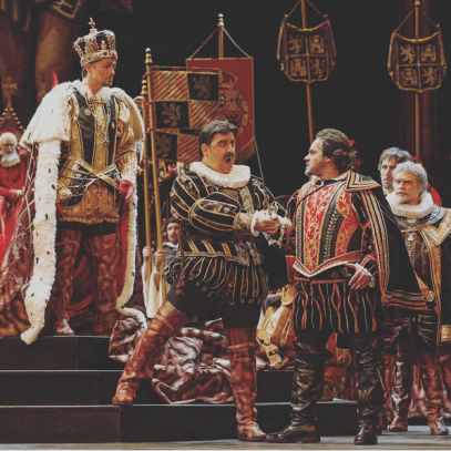 Alexander as Filippo ll ,Fabián Veloz as Rodrigo, José Bros as Carlo
