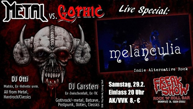 Melanculia + Metal vs. Gothic Party