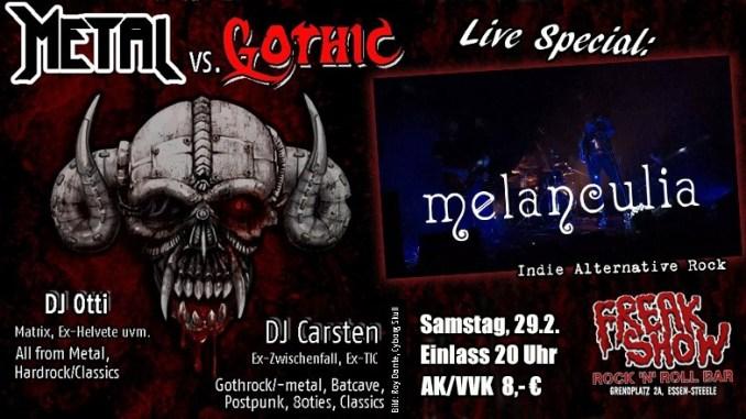 Melanculia + Metal vs. Gothic Party