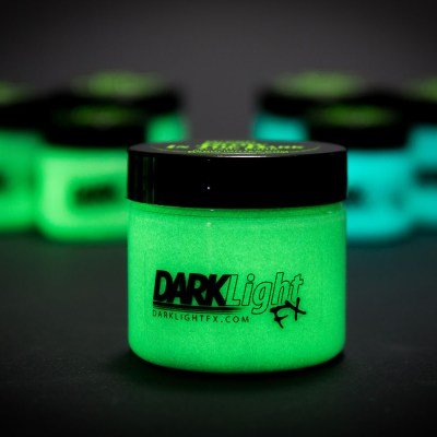 Glow in the Dark Paint Color Comparison Green Blue