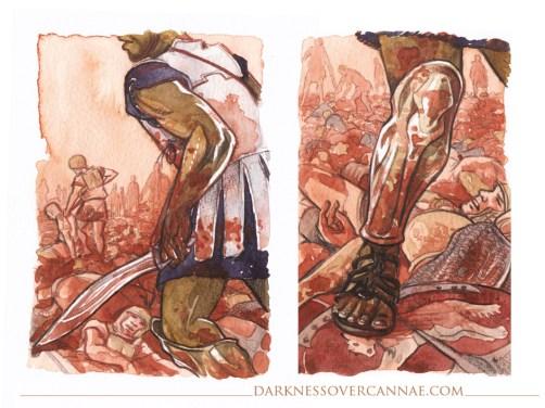 Bomilkar stumbles through the slaughter.