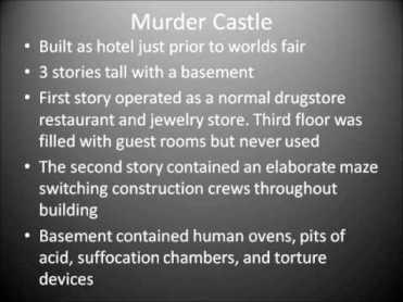Murder Castle description