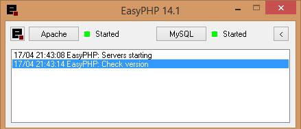 Ispravno pokrenuti EasyPHP lokalni server