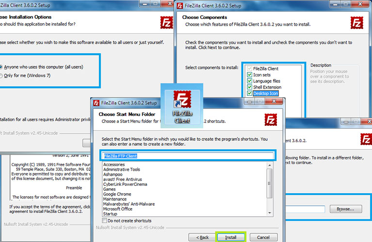 Instalacija FTP