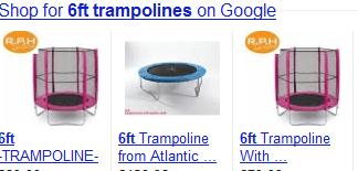 Rezultati za shopping u Googleu