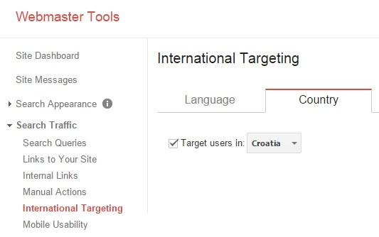 Webmaster alati international targeting