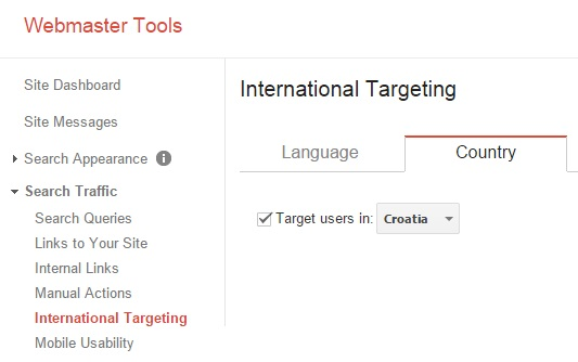 Webmaster alati international targeting