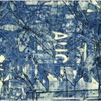 Textured Text: Tropical Screens- Cyanotype Variations
