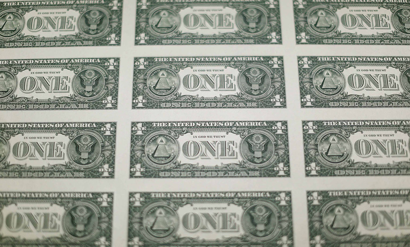 The Money Factory How A U S One Dollar Bill Is Printed