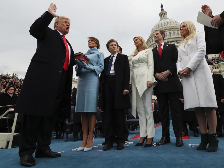 Image result for Presidential Oath of Office donald j. trump