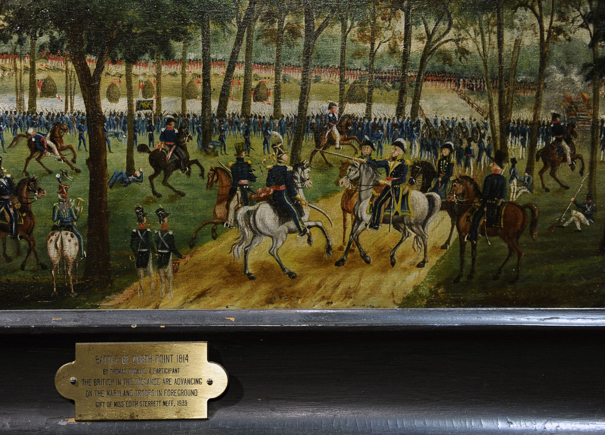 June 1 Painting Of The Battle Of North Point