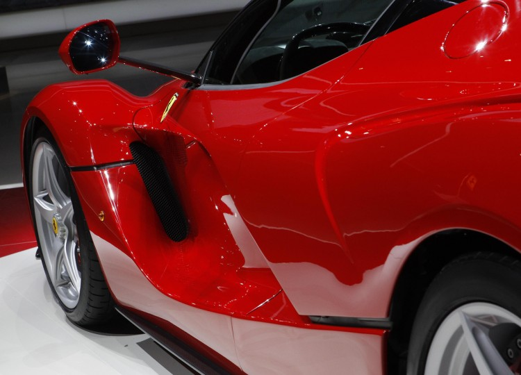 The new LaFerrari hybrid car is pictured on the Ferrari stand during the first media day of the 83rd Geneva Car Show. (Denis Balibouse/Reuters photo)