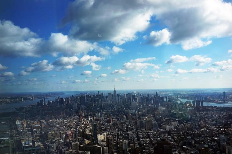 Один Мир обсерватория расположена более чем 1250 футов в нижнем Манхэттене и будет открыта для публики в 2015 году. (Спенсер Платт/Getty Images)