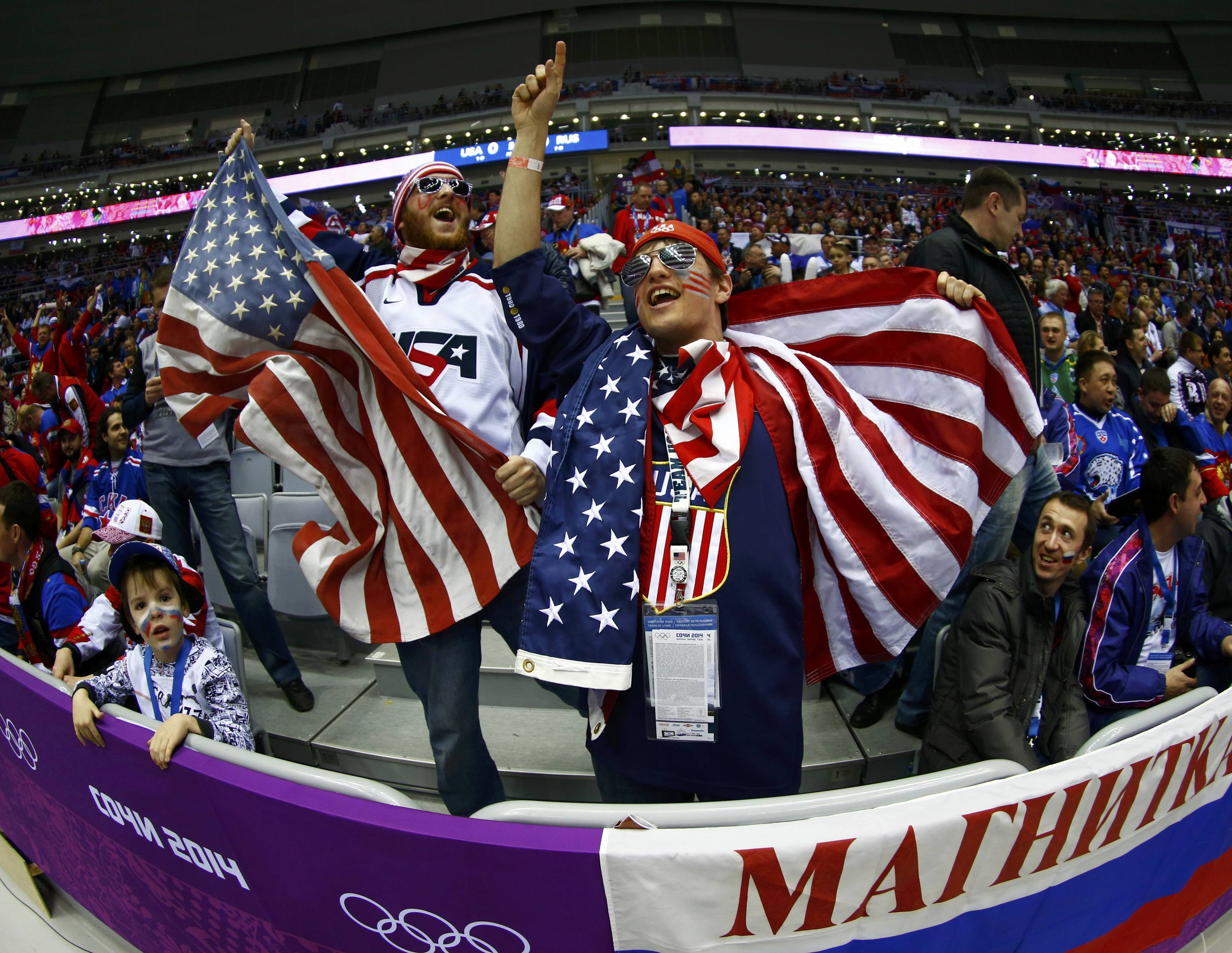 Fans Of Team USA Cheer Before The Mens Preliminary Round