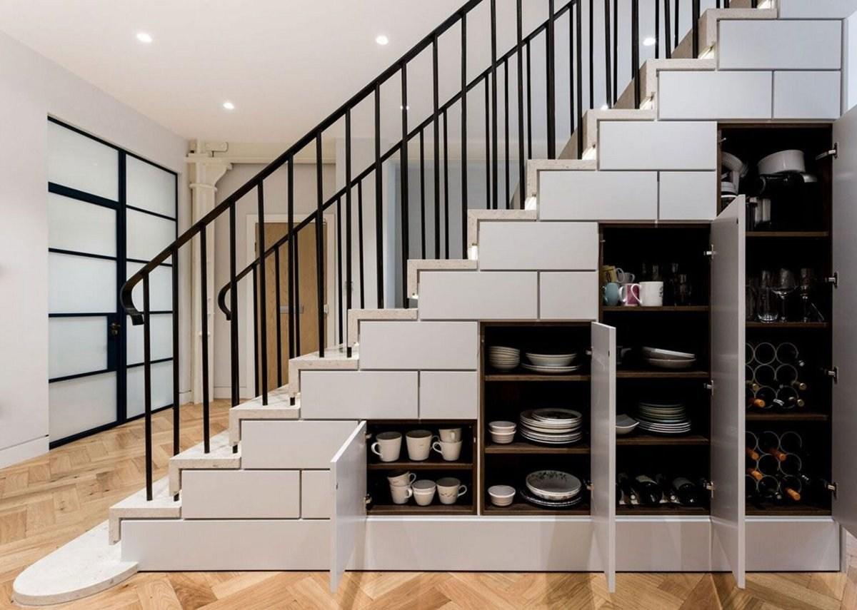 Wtsenates Extraordinary Kitchen Stair Storage In Collection 5918 | Kitchen Under Stairs Design | Cupboard | Living Room | Wet Bar | Basement Renovations | Staircase Storage