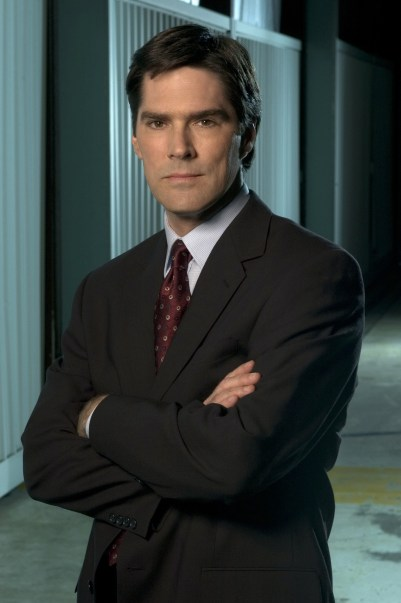 caption: Thomas Gibson starsstars stars in CRIMINAL MINDS on the CBS Television Network. This photo is provided for use in conjunction with the CBS Summer 2005 Press Tour being held in Beverly Hills, CA. Photo: Carole Segal/CBS ©2005 CBS Broadcasting Inc. All Rights Reserved copyright: