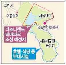 proposed Disneyland Seoul map