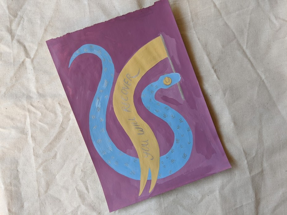 You Will Recover - Gouache Snake Painting