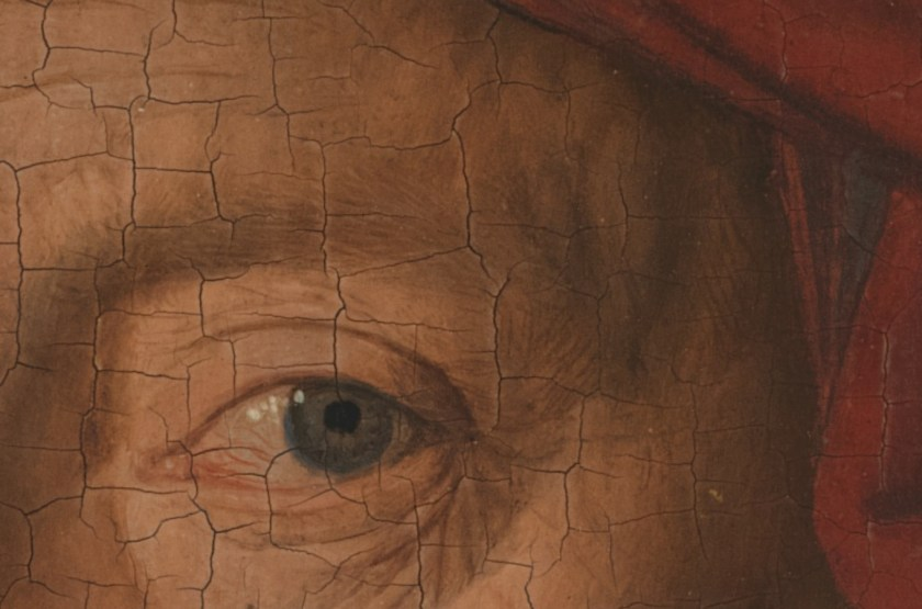 Jan Van Eyck, Portrait of a Man (Selfportrait?) (detail), 1433, National Gallery London