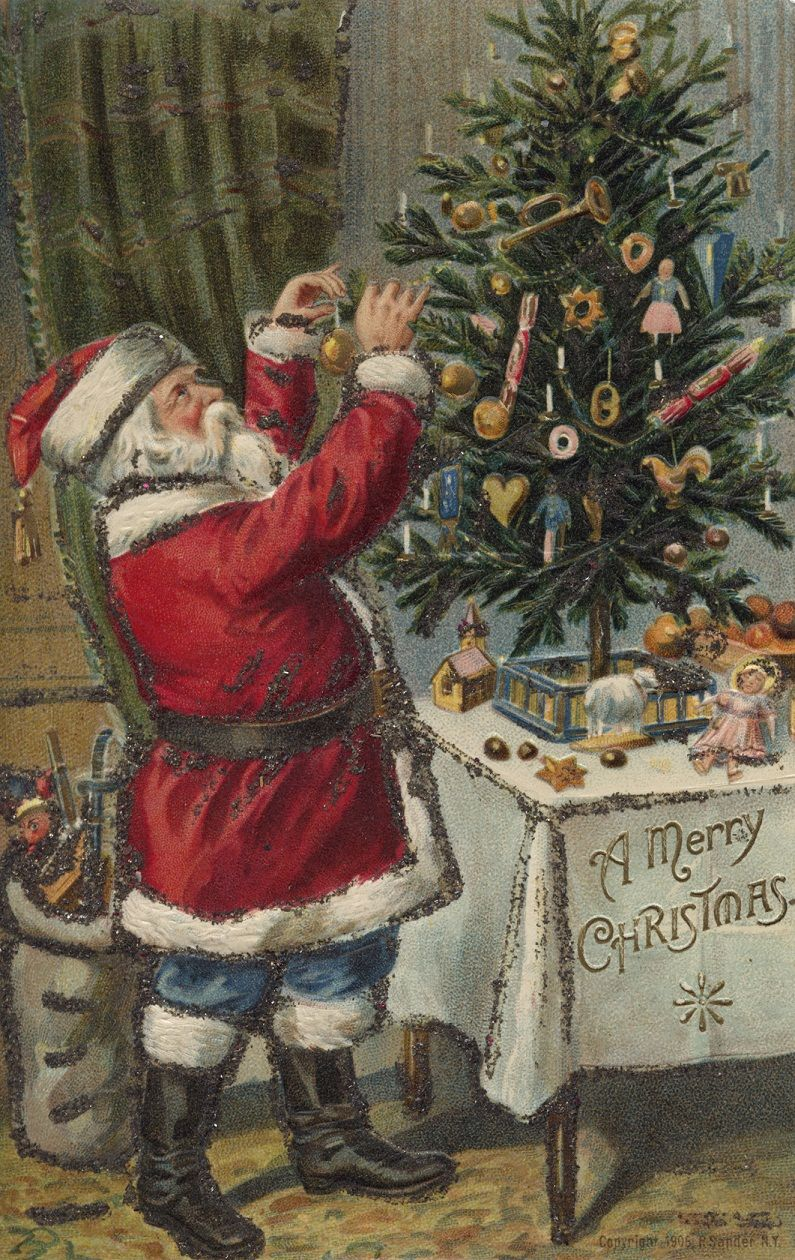 Country Christmas Vintage Cards