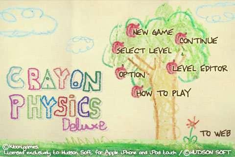 Crayon Physics Menu