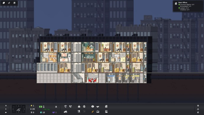 Night time in Project Highrise